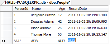 Person DB Table